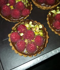 [Homemade] Chocolate raspberry pistachio tartlets #food #foodporn #recipe #cooking #recipes #foodie #healthy #cook #health #yummy #delicious