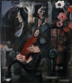 George Dunne-Motherhood #art #painting #music #instruments #DukeStreetGallery Street Gallery, People Talk, Music Instruments, Artist, Painting, Musical Instruments, Artists, Painting Art, Paintings