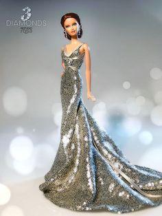 3 Diamonds Barbie Doll by Refugio Rosa 2014
