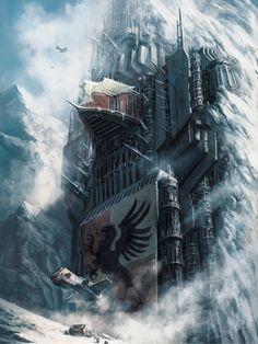 Howling Griffons Chapter Monastery - Artwork of Warhammer Sci Fi Fantasy, Fantasy World, Eternal Crusade, Guerra Anime, Grey Knights, Warhammer 40k Art, Warhammer Terrain, 40k Terrain, Fantasy Landscape