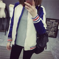 Street fashion sports baseball cardigan jacket