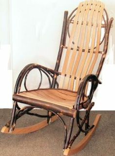 Rocker made of hickory by the Amish. How relaxing to just sit & rock away on my beautiful porch! Amish Books, Amish Culture, Amish Community, Pennsylvania Dutch, Amish Recipes, Amish Furniture, Whittling, Building Ideas, Simple Living