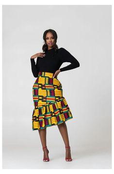 African Pencil Skirt, African Print Skirt, African Print Dresses, African Print Fashion, African Prints, African Print Clothing, Pencil Skirts, Africa Fashion, Tribal Fashion