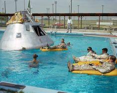 La tripulació de l'Apol·lo 1 assajant l'aterratge sobre aigua.