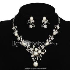 Ékszer szett Női Évforduló / Esküvő / Eljegyzés / Születésnap / Ajándék / Parti / Különleges alkalom Ékszer-szettek ÖtvözetGyöngyutánzat 983913 2017 – €17.45 Bridal Jewelry Sets, Bridal Accessories, Wedding Jewelry, Engagement Gifts, Wedding Engagement, Occasion Spéciale, Special Occasion, Cheap Jewelry, Diamond Are A Girls Best Friend