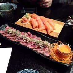 #BeefTataki and #SalmonSushi at #Maguro in #Chadstone ! #Japanese #JapaneseFood #JapaneseRestaurant #Chaddy #Melbourne #MelbourneFood #MelbourneRestaurant #instadaily #InstaFood #InstaFoodie #Food #FoodComa #FoodPorn #Beef #Tataki #Salmon #Sushi #叩き #寿司 #日本 #InstaAsian #melbourneeats by maimaicheese