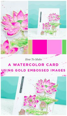 May shows us how to make a watercolor card using gold embossed images. She also shares some great watercolor tips on her video tutorial. Don't miss it! See the tutorial on our blog. www.altenew.com