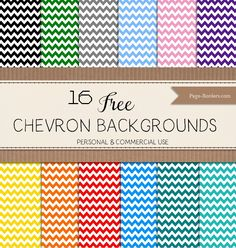 Chevron backgrounds - free - personal and commercial use. Instant download.