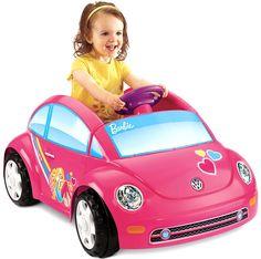 Girls Car Powerwheels Barbie Pink Ride Along Mini Car for Toddlers Kids Gift
