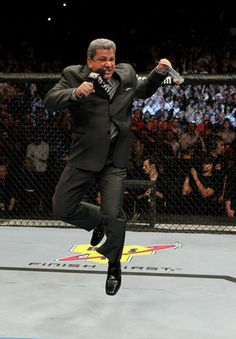 """""""Bruce Buffer has turned fight announcing into an art form...if you are truly an MMA fan then you know how much Bruce Buffer's announcing skills mean to MMA.""""   ~ Bruce Buffer doing the Buffer 360 (a move originally only used when Randy Couture was in the Octagon)"""