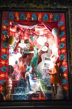 A holiday window display at Bergdorf Goodman.