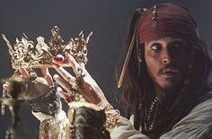 Captain Jack Sparrow is obsessed with treasure ! lol