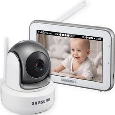 Samsung BrightVIEW baby monitor with touch screen, screen baby monitor New arrival best baby video monitor touch HD screen safe view Samsung, Pouf Rose, Wireless Baby Monitor, Best Wifi, Baby Health, Baby Safety, Baby Needs, Baby Registry, Health And Safety