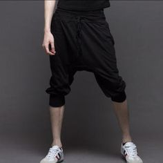 Drawstring-Waist Cropped Harem Pants from #YesStyle <3 K-Style YesStyle.ca