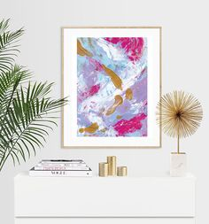 Unicorn Blend Abstract Expressionist Luxury Acrylic Painting Print - or A5, Painting Prints, I Shop, Unicorn, Tapestry, Abstract, Luxury, Unique Jewelry, Handmade Gifts