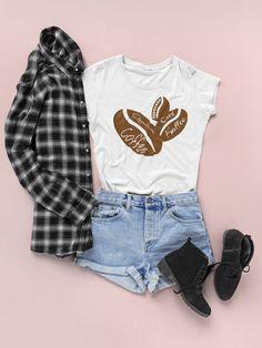'Kaffee Coffee Queen Cafe Kaffeepause T-Shirt & Geschenk Texas Shirts, Latte Macchiato, Unisex, Zip Hoodie, Short Sleeve Tee, Funny Shirts, What To Wear, Shirt Designs, Cute Outfits