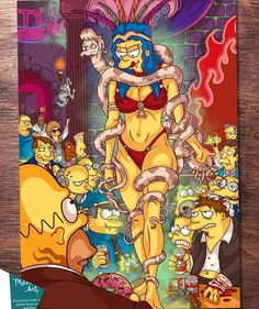 """From D'oh till Dawn"" another banger from my good friend ! Go check out his other work! Simpsons Drawings, Simpsons Art, Cartoon Cartoon, Street Fighter Wallpaper, Goth Memes, Psychedelic Drawings, Horror House, Principles Of Art, Vintage Horror"