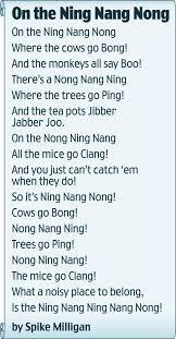 funny poem by Spike Milligan!