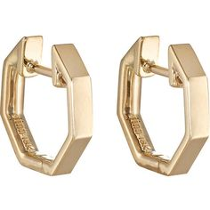 Finn Womens Yellow Gold Huggie Hoop Earring TC57vpzBRD