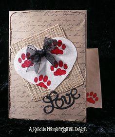 Pet Sympathy card loss of dog loss of cat dog by TheRescueMama