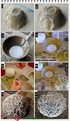 Gill Wilson produces handmade paper using natural plant fibers as raw material … « Diy Decoration 2019 Paper Mache Crafts, Yarn Crafts, Diy Home Crafts, Diy Home Decor, Diy Para A Casa, Doilies Crafts, Lace Doilies, Creation Deco, Pinterest Diy