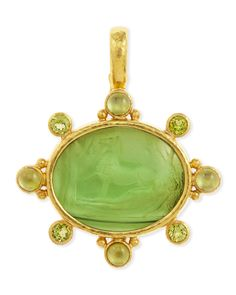 Elizabeth Locke ~ Horse with Sleeping Maiden Antique 19k Gold and Venetian Glass Intaglio Pendant, Neiman Marcus. (Look closely to see the image.) $4350.