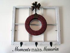 Not usually drawn to the empty window pane/wreath thing, but I'm digging this.
