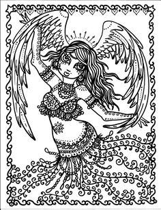 Instant Download Belly Dancer Coloring pages by ChubbyMermaid