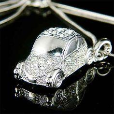 3D VW Beetle VOLKSWAGEN Classic CAR Swarovski Crystal by Kashuen