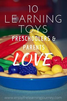 A quality learning toy can be used for years and in different capacities as a child grows. Here are 10 of the best learning toys for preschoolers! Preschool At Home, Preschool Themes, Toddler Preschool, Toddler Toys, Preschool Activities, Kids Toys, Learning Toys For Toddlers, Fine Motor Activities For Kids, Toddler Learning