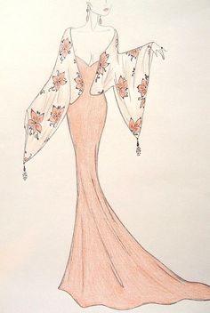Dress Design Drawing, Dress Design Sketches, Fashion Design Sketchbook, Fashion Design Drawings, Wedding Dress Sketches, Art Sketchbook, Fashion Drawing Tutorial, Fashion Figure Drawing, Fashion Illustration Poses