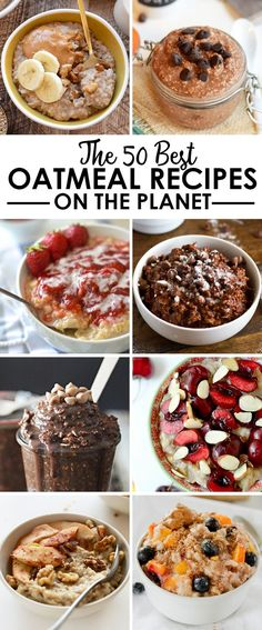 Think oatmeal is boring? Think again! Get inspired by one of these delicious oatmeal recipes. You've got 50 options, including some savory ones!