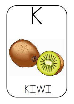 K - kiwi Spanish Lessons For Kids, Learning Spanish, 2 Kind, Abc Activities, Spanish Alphabet, Letter K, Unit Plan, Class Decoration, Sistema Solar