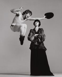 Mikhail Baryshnikov and Twyla Tharp, dancers, photographed by Richard Avedon. New York, December 26th, 1975