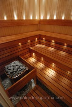 Good sauna designs and plans make your sauna project perfect. When you decide to design your own sauna, it is important to consider several factors. Heaters are the heart and soul of any sauna. Portable Steam Sauna, Sauna Steam Room, Sauna Room, Basement Sauna, Saunas, Diy Sauna, Homemade Sauna, Sauna Lights, Indoor Sauna