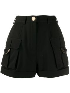 Shop online black Balmain high-waisted cargo shorts as well as new season, new arrivals daily. Edgy Outfits, Teen Fashion Outfits, Grunge Outfits, Cute Casual Outfits, Pretty Outfits, Girl Fashion, Girl Outfits, Emo Fashion, Paris Fashion