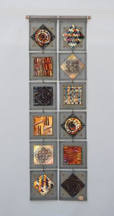 Scrapyard Quilt 6 by Frances Solar (Metal Wall Sculpture) x Metal Wall Sculpture, Wall Sculptures, Copper Art, Creation Deco, Textile Fiber Art, Fused Glass Art, Assemblage Art, Recycled Art, Wire Art
