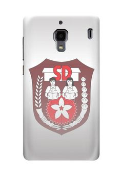SD (Sekolah Dasar)  case for Redmi Xiaomi by Cutie Addict Merch. White base case with SD symbol, this case also available for Redmi Xiaomi Note, iPhone 4/4S, 5/5S, 5C, 6, 6+. Samsung Galaxy Note 2, 3, Samsung Galaxy S3, S4, S5, Samsung Galaxy Grand. http://www.zocko.com/z/JIqqP