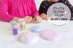 fluffy glitter slijm maken simpel recept