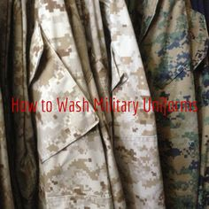 Five Tips For Cleaning Military Cammies