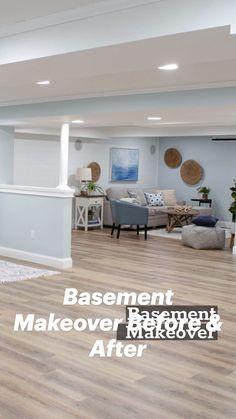 Basement Makeover, Basement Renovations, Home Renovation, Home Remodeling, Home Room Design, Home Interior Design, Living Room Designs, Living Spaces, Basement Living Rooms