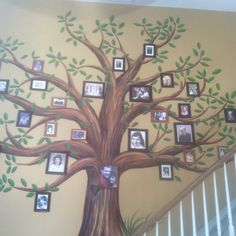 Family tree wall mural diy kids rooms Ideas for 2019 Family Tree Mural, Tree Wall Murals, Tree Wall Art, Family Wall, Tree Art, Kids Room Paint, Kids Rooms, Family Tree Designs, Wall Decals