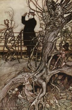 Kensington Gardens Arthur Rackham's Illustration to J.M. Barrie's Peter Pan in Kensington Gardens Arthur Rackham at Art Passions