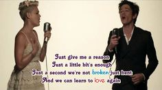 Pink feat. Nate Ruess - Just Give Me A Reason (Lyric Video)