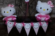 Banner at a  Hello Kitty in Paris Party #hellokitty #banner