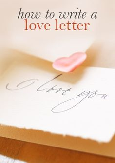 "Simple solutions to Heart-Day-Induced Writer's Block: Hallmark writer Keely Chace helps you say ""I love you"" in so many ways to so many different people in this Valentine's Day life-saver of an article on Hallmark.com, ""How to Write a Love Letter."""