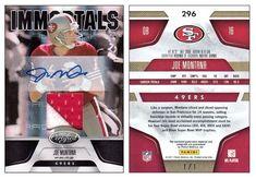 Joe Montana 2011 Panini Certified 296 Immortals (Black) AU Patch (#1/1)
