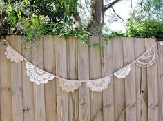 Crochet doily bunting by adayofpaleskies on Etsy
