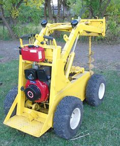 mini skid steer loader kit Tractors For Kids, Small Tractors, Compact Tractors, Powered Wheelbarrow, Garden Tractor Attachments, Homemade Tractor, Skid Steer Attachments, Birthday Diy, Tractor Birthday