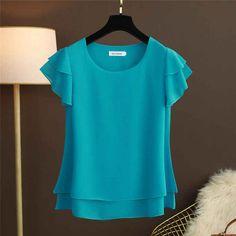 Female Shorts, Chiffon Shirt, Plus Size Blouses, Short Sleeve Blouse, Blouses For Women, Womens Fashion, Casual, Shirts, Outfits